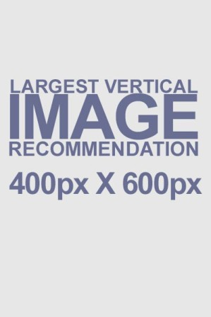Largest Vertical Image Recommendation 400px x 600px